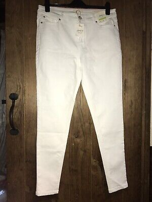 Joules Monroe Super Skinny Jeans, Trousers, Size 16, BNWT (Marks), Bright White
