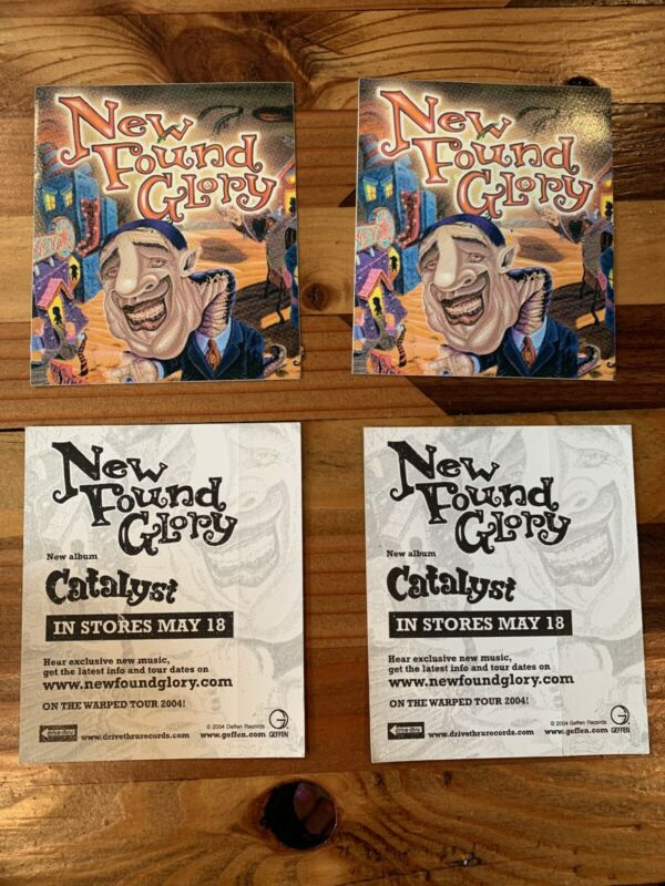 New Found Glory NFG Catalyst Album Promo Sticker Lot Of 2