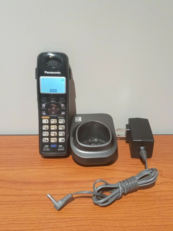 Panasonic KX-TGA939T 1.9 GHz 2 Line Cordless Phone w/ OEM Charger & Base Black