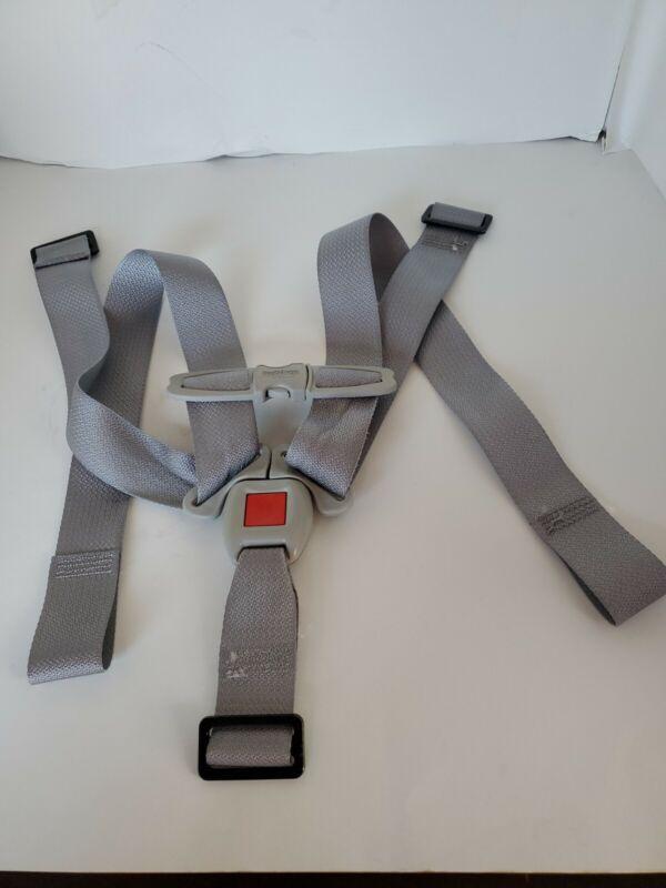 Peg Perego SE Auto Primo viaggio Convertible Seat Belt Strap Harness Buckle Gray
