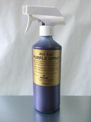 Gold Label Purple Spray x 500 Ml Horse Pony First Aid