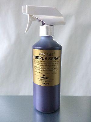 Gold Label Purple Spray x 500 Ml Horse Pony First Aid ***AMAZING VALUE***
