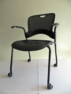 Herman Miller Caper Office Home Stacking Chair Molded Seat Caster 030221