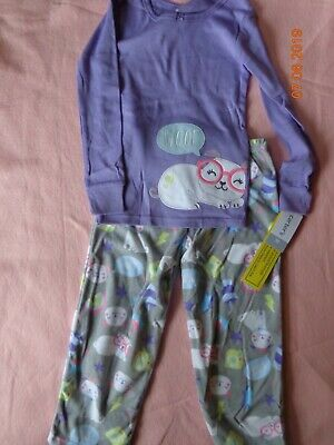 - Carters Toddler Girl 2-Piece Dog Fleece PJs 2pc Pajamas Set Sleepwear Purple 5T