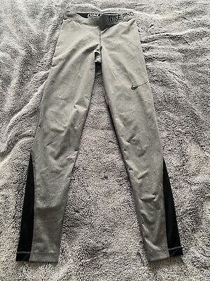 Ladies Nike Pro Gym Leggings Grey Size Small
