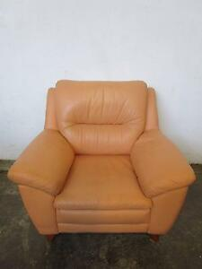 D5049 Beautiful Leather Armchair Mount Barker Mount Barker Area Preview