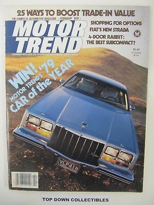 Motor Trend Magazine   February 1979      Gucci Cadillac Seville - Motor Trend Cadillac