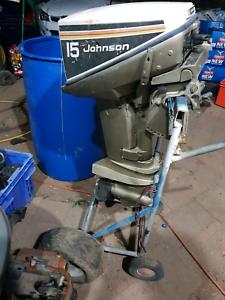 15 hp Johnson runs good