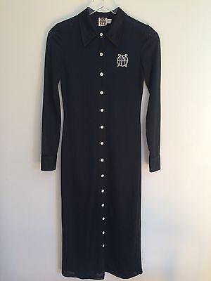 John Paul Gaultier JPG Shirt Dress Old School Football Jersey Fabric Size XS 90s - Football Jersey Dresses