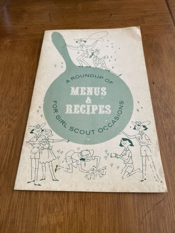 1960s Roundup of Menus Recipes for Girl Scout Occasions Booklet Carolyn Campbell