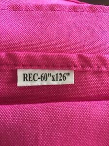 """Flat Pink  60"""" x 126"""" rectangle table cloths"""