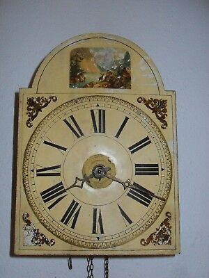 Schwarzwald Uhr mit Kettenaufzug, Holz gespindelt  um 1880