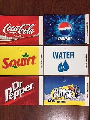 Coke Pepsi Dr Pepper Squirt Brisk Vending Machine Flavor Strips 3 12 X 2 12