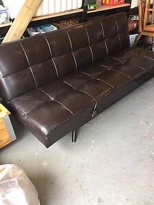 Leather adjustable futon