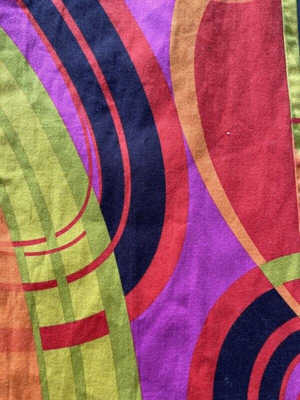Vintage slacks Go-Go/Mod. Flower Pants 1960/70s Bright Rare Hippy ck size medium