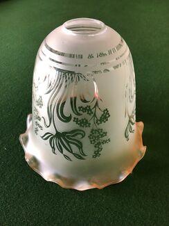 Antique glass light shade