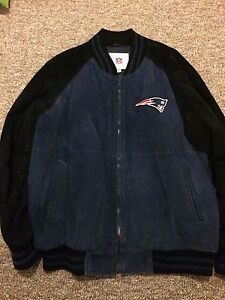 Mens Leather New England Patriots Jacket