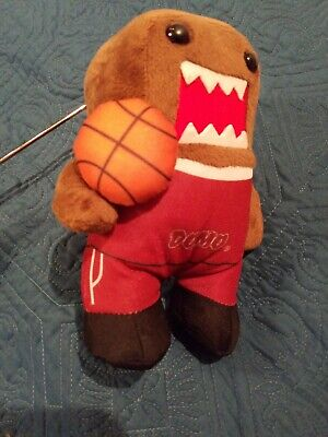 Domo Kun Face Fuzzy Plush Toy, Holding Basketball with Suit 2016, 8 Inches ](Domo Suit)