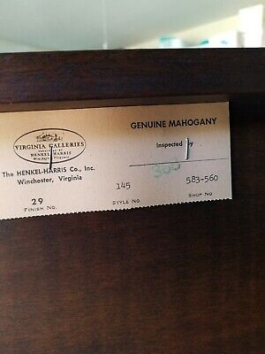 Henkel Harris Highboy Chest with Flame Finial MAHOGANY # 29 (3SEPARATE PIECES)