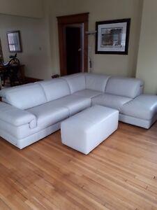 Natuzzi Italsofa sectional leather sofa
