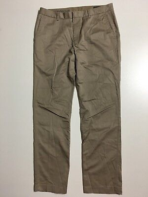 MINT Bonobos Wednesday Mens 36x32 Size 34 Taupe brown Straight leg Chino Pants