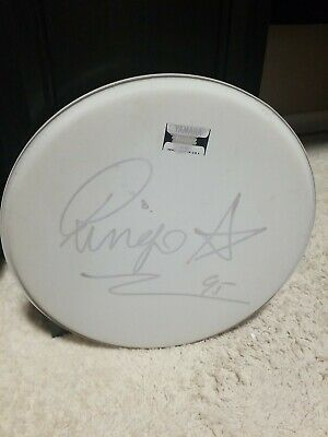 Ringo Starr Autographed Drum Head
