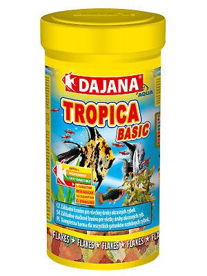 Tropika Flake Fish Food for all Types of tropical Fish 3.4 Fl Oz 20g/100ml