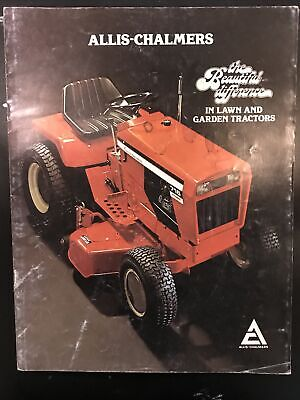 Allis Chalmers Line Up Lawn Mower Garden Tractor Color Sales Brochure