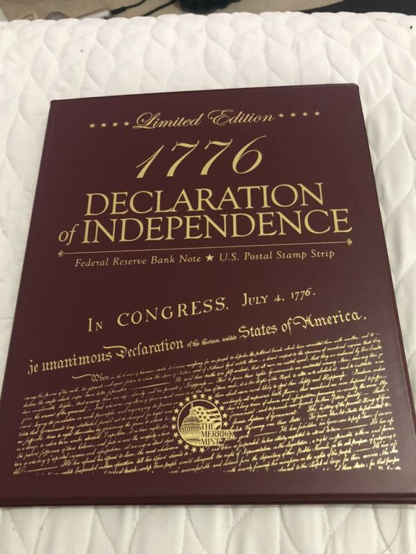 2 Dollard Declaration of Independence new serial #46/5000