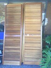 Wooden louvred wardrobe doors Sandy Bay Hobart City Preview