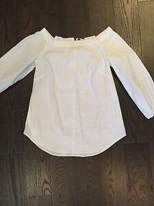 White off shoulder blouse top new tags black white market