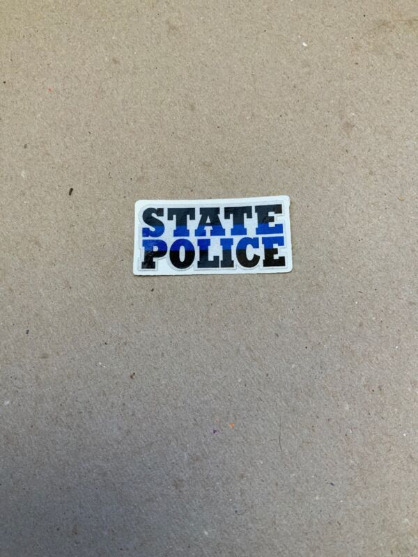 STATE POLICE THIN BLUE LINE DECAL