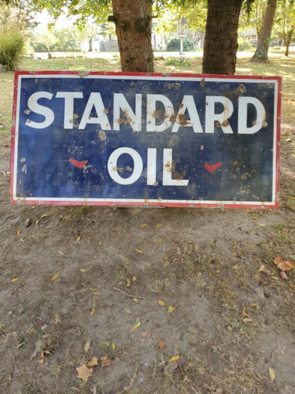 STANDARD OIL SIGN / Porcelain / Vintage / Gas & Oil