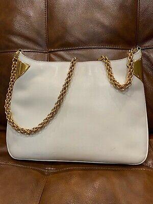 Vintage Gucci leather shoulder bag. Goldtone chain.1970s No 86283