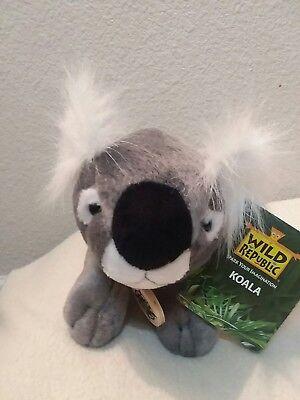 "New Wild Republic 2008/2009 10"" Bean Bag KOALA Plush Stuffed Animal"