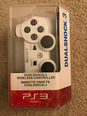 SONY DUALSHOCK 3 WIRELESS PS3 CONTROLLER WHITE - BRAND NEW, SEALED!