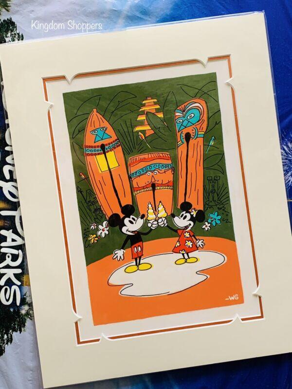 2021 Disney Parks Mickey Minnie Polynesian Dole Whip Print Will Gay