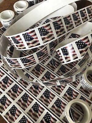 50 USPS Forever Stamps US Star Spangled Banner Flag Heart Postage Coil Sheet USA