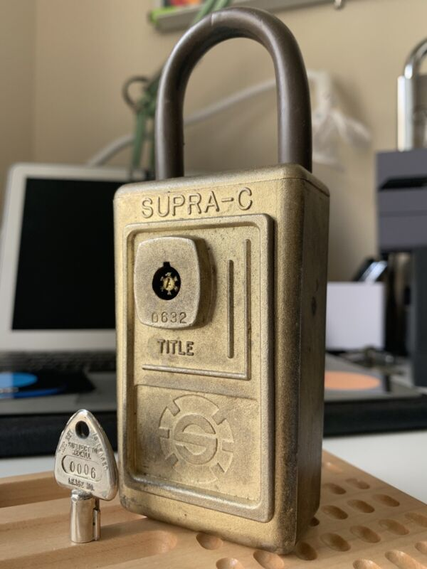 Supra-C Title High Security Padlock w/ Key Locksport Lock Tubular