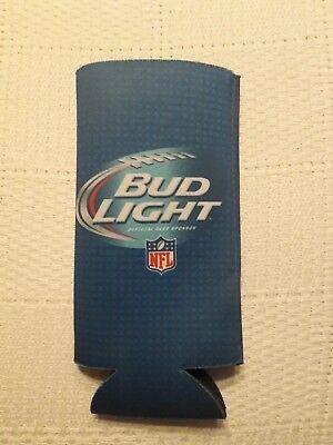 Beer Bottle Cozy (NFL Bud Light Bottle Beer 16 oz or Slim Tall Can Coozie Koozie Cozy)