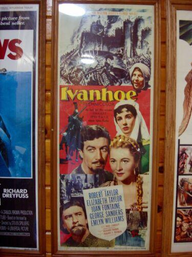 IVANHOE! 1952  CLASSIC ORIGINAL INSERT FILM POSTER!