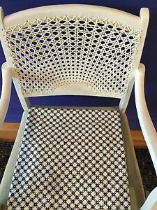 Antique white cane chair Mosman Mosman Area Preview