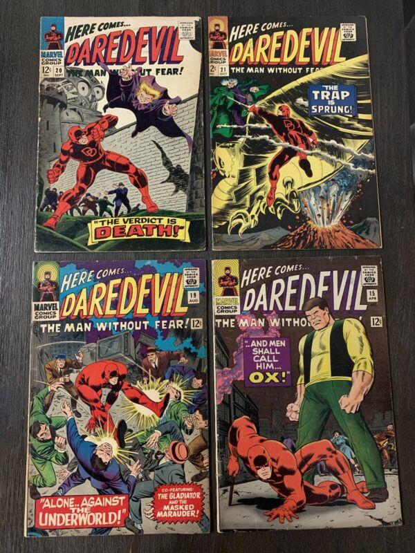 Daredevil Lot 15 19 20 21 OX Gladiator Masked Marauder Owl Gene Colan Simek NY