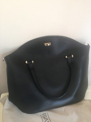 Isabella Rhea Bag Black Leather  Strap Bag