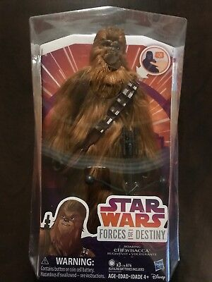 """Star Wars Forces of Destiny ~ 11"""" ELECTRONIC ROARING CHEWBACCA FIGURE  Hasbro"""