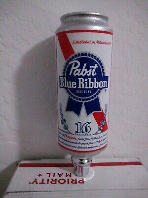 "Beer Tap Handle Pabst Blue Ribbon 16 oz Shotgun Can Beer Tap Handle - 10"" Tall"