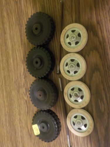 vintage tonka ford pickup truck 4 tires 4 whitewall 4 tranigle hub-cap 2 axles f