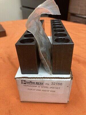 Mitee-bite Versagrip 4 6 Vise Steel Jaw Set Pn 32166 Machinist Tool N251