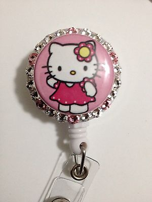 Hello Kitty Id Badgeholder Retractable Reel Wswarovski Crystals