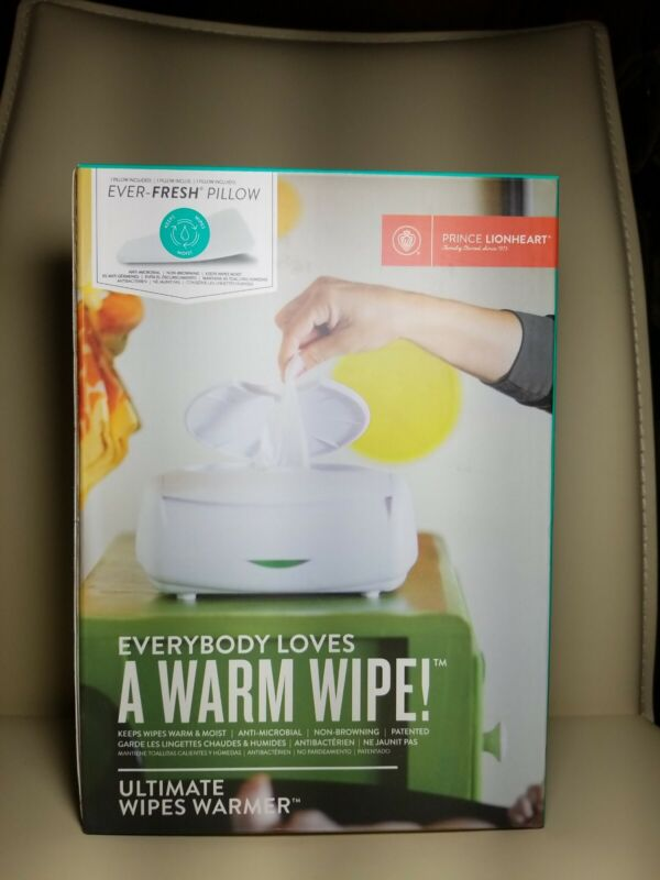 NEW Prince Lionheart Ultimate Wipes Warmer ANTI-MICROBIAL Night Light Large Tub